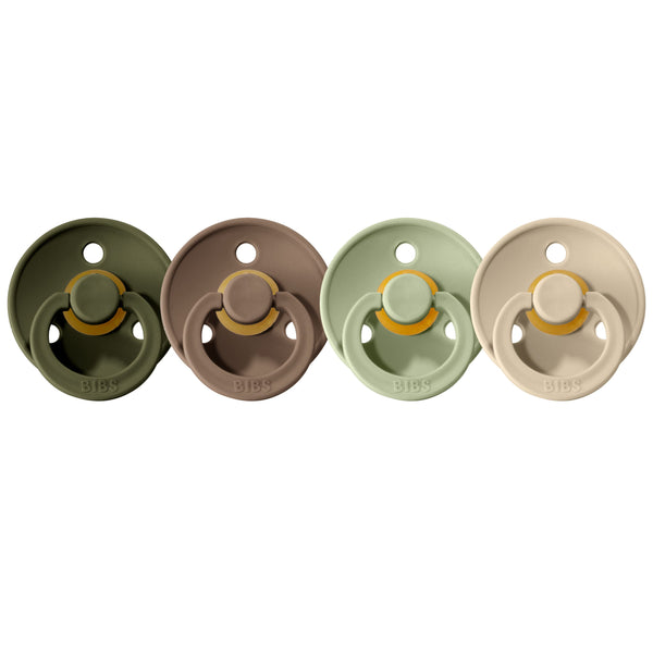 Bibs pacifier 0-6 M 4-pack hunter green + dark oak + sage + sand Pacifier Bibs