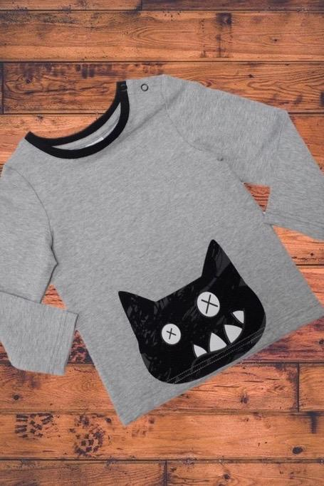 Crazy cat top