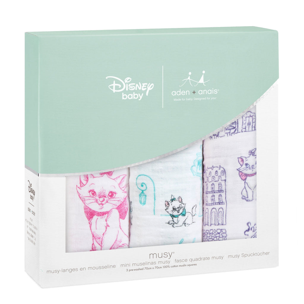 Muslin squares aristocats 3-pack