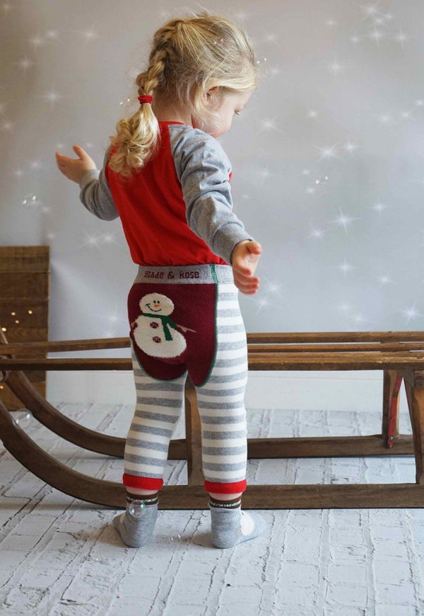 Xmas leggings - snowman Bottoms Blade & Rose