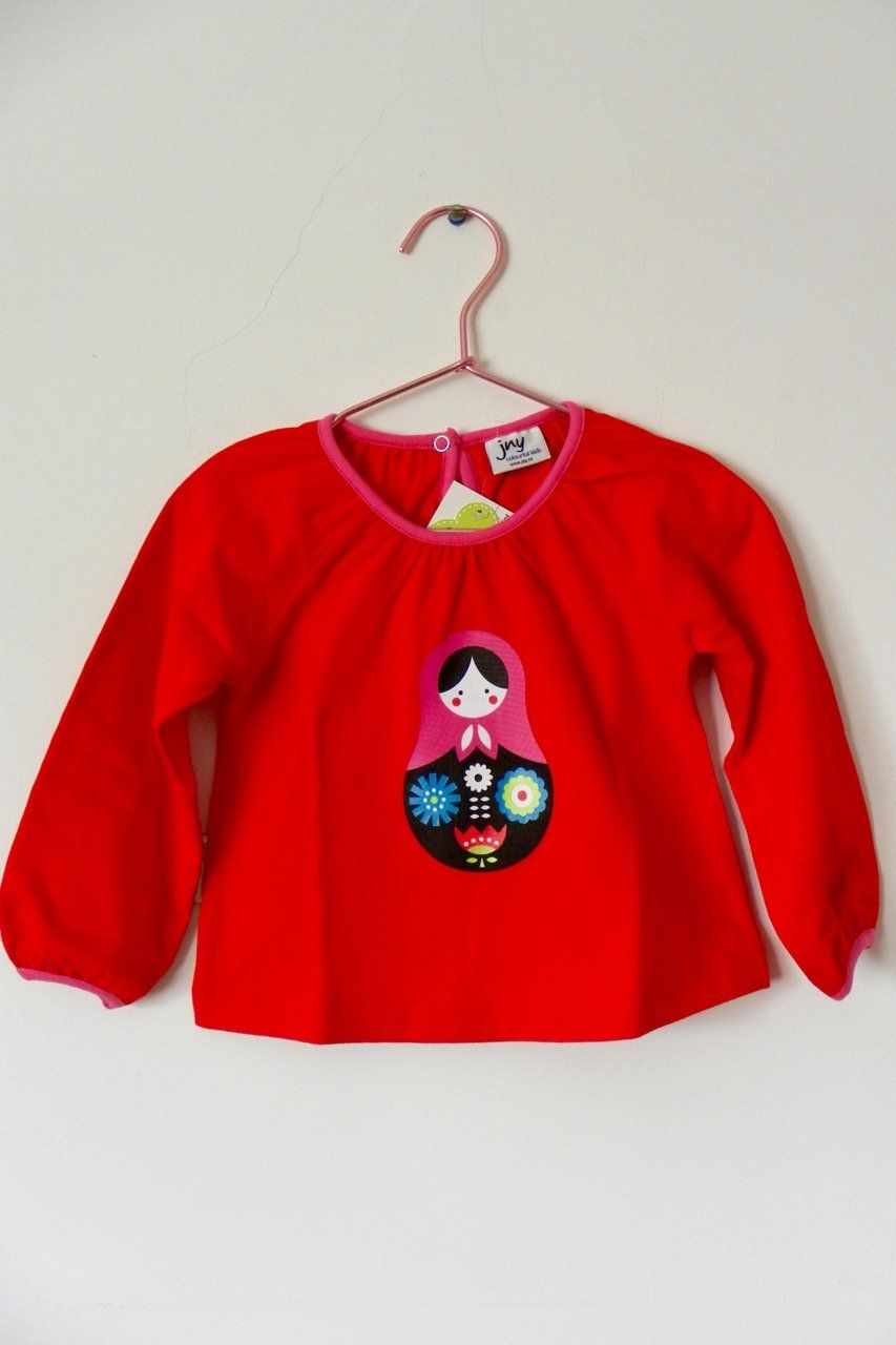 Puffy shirt matryoshka Tops JNY