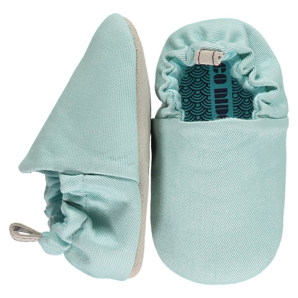 Plain duck egg blue mini shoes 18-22 Poco Nido