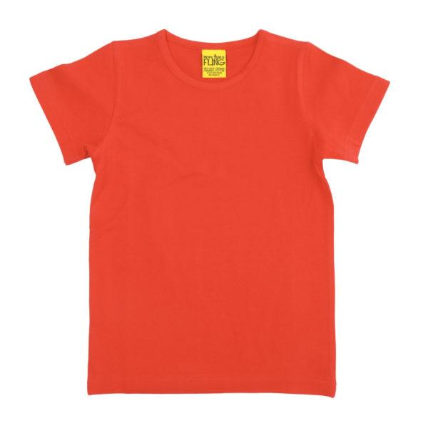 Red mandarin short sleeve top