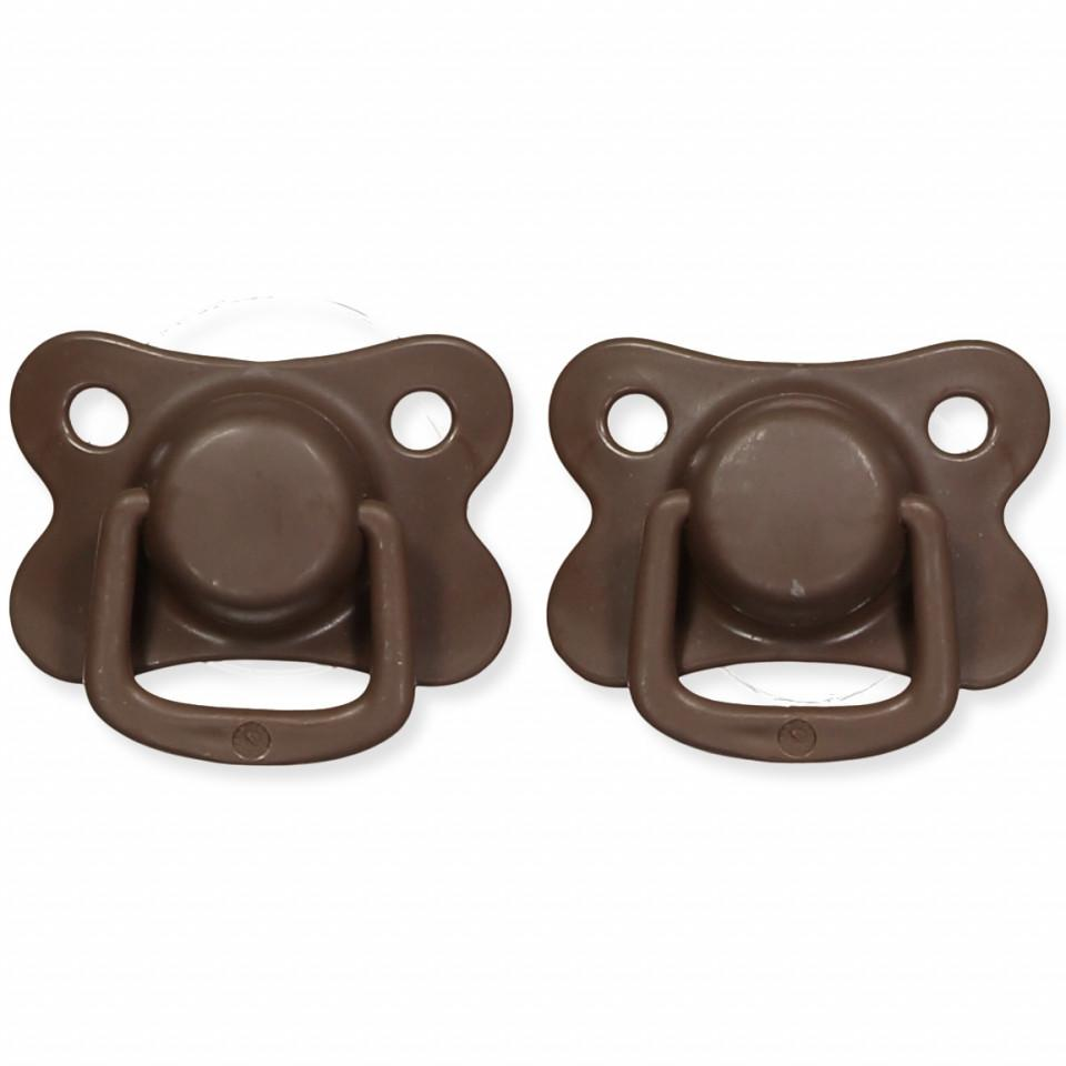 Pacifiers 2-pack chocolate +6M Filibabba accessories Filibabba