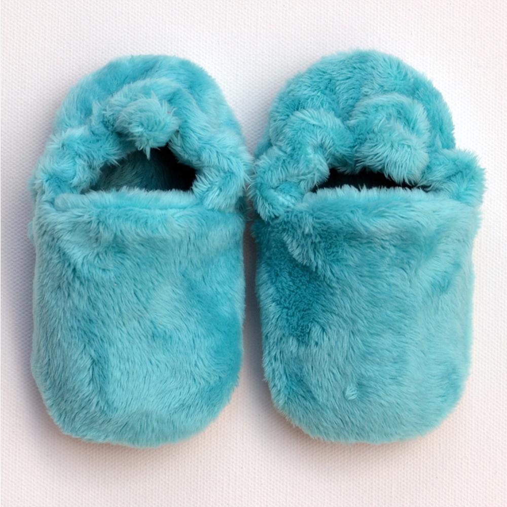 Turquoise fluffy mini shoes Poco Nido