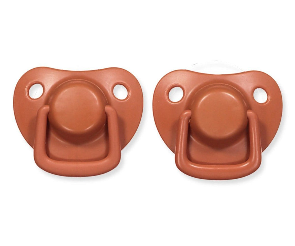 Pacifiers 2-pack rust 0-6M Filibabba accessories Filibabba