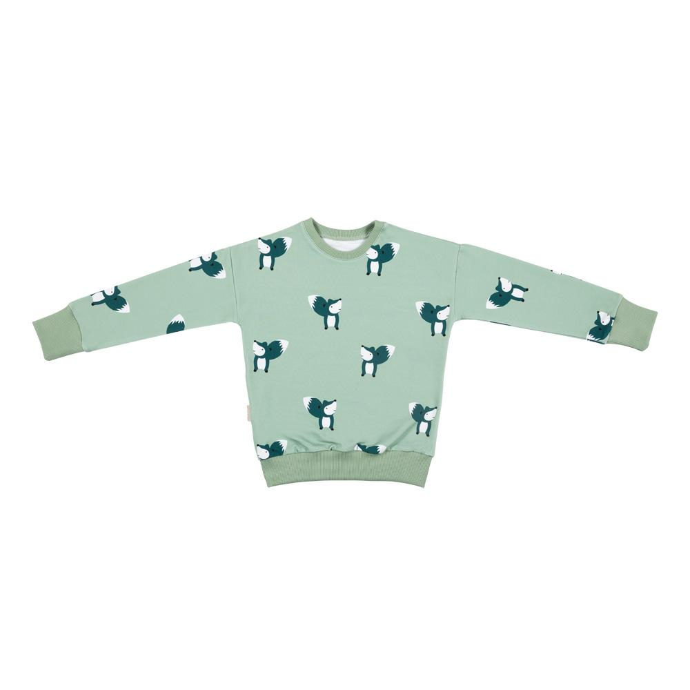 Fox on mint sweatshirt Malinami Tops Malinami