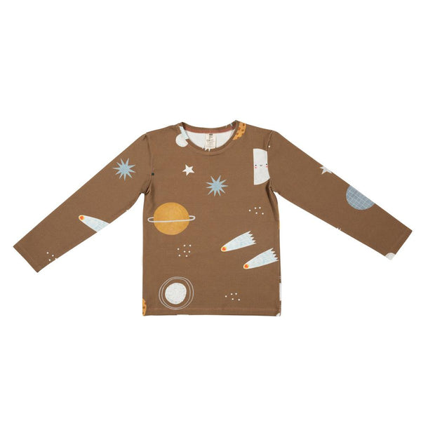 Cosmos on brown long sleeve don't grow up Tops don't grow up