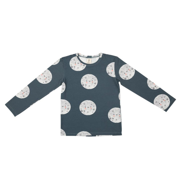 Moon on blue long sleeve don't grow up Tops don't grow up
