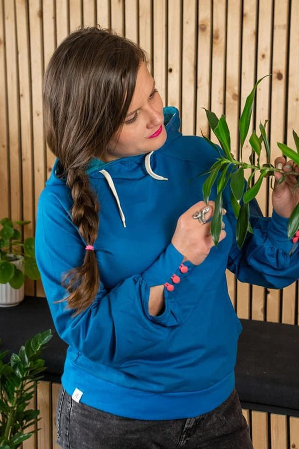 My favourite hoodie blue sapphire AiA WOMAN AlbaBaby Woman Alba of Denmark