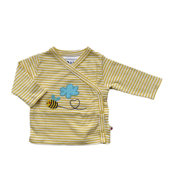 Wrap-over top bumblebee Piccalilly Tops Piccalilly