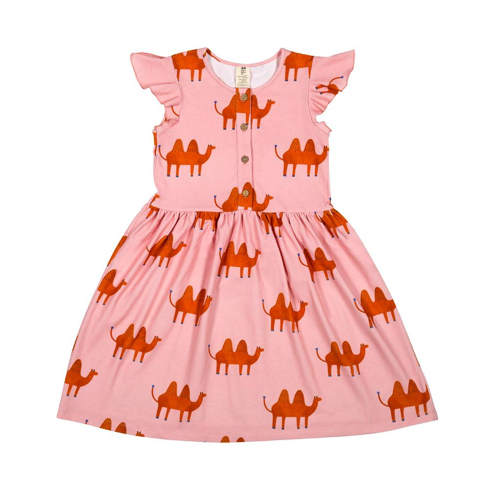 Pink camel ruffled dress don't grow up Dresses don't grow up