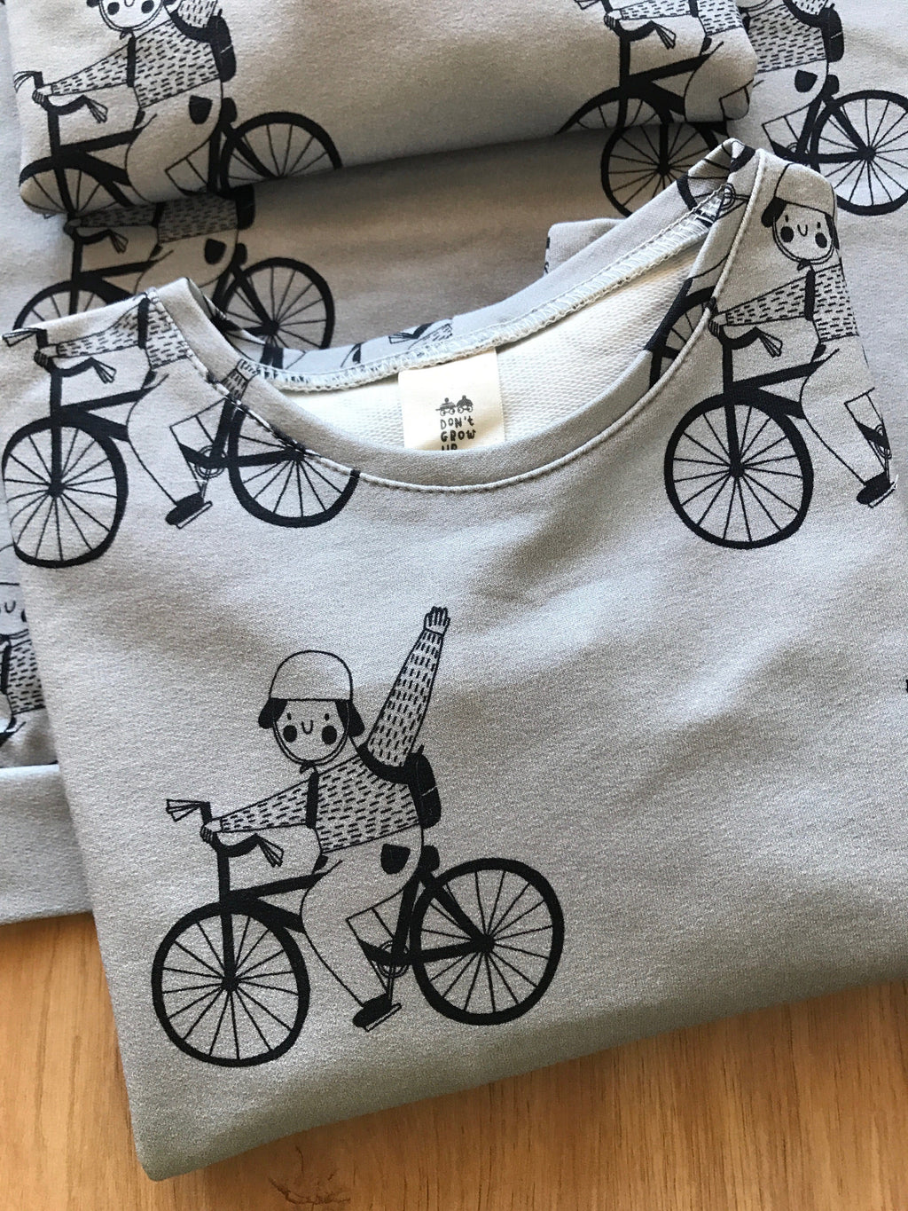 Bike sweatshirt don't grow up