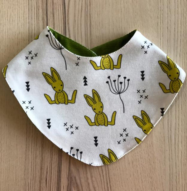 Rabbit bandana bib