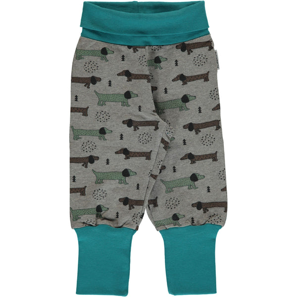 Sweat rib pants dotted puppy Maxomorra