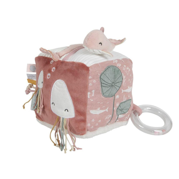 Soft activity cube pink Little Dutch
