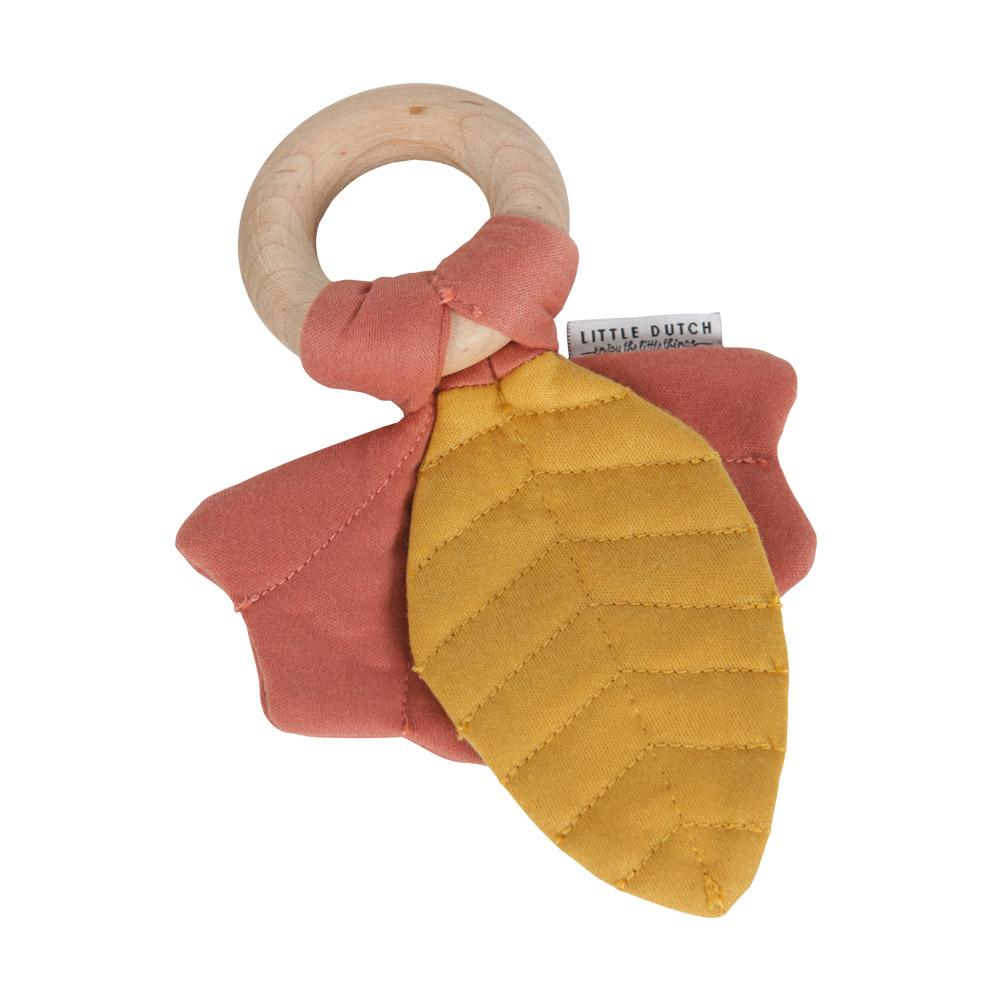 Crinkle toy leaves Pure & Nature dark pink Little Dutch Toys Little Dutch