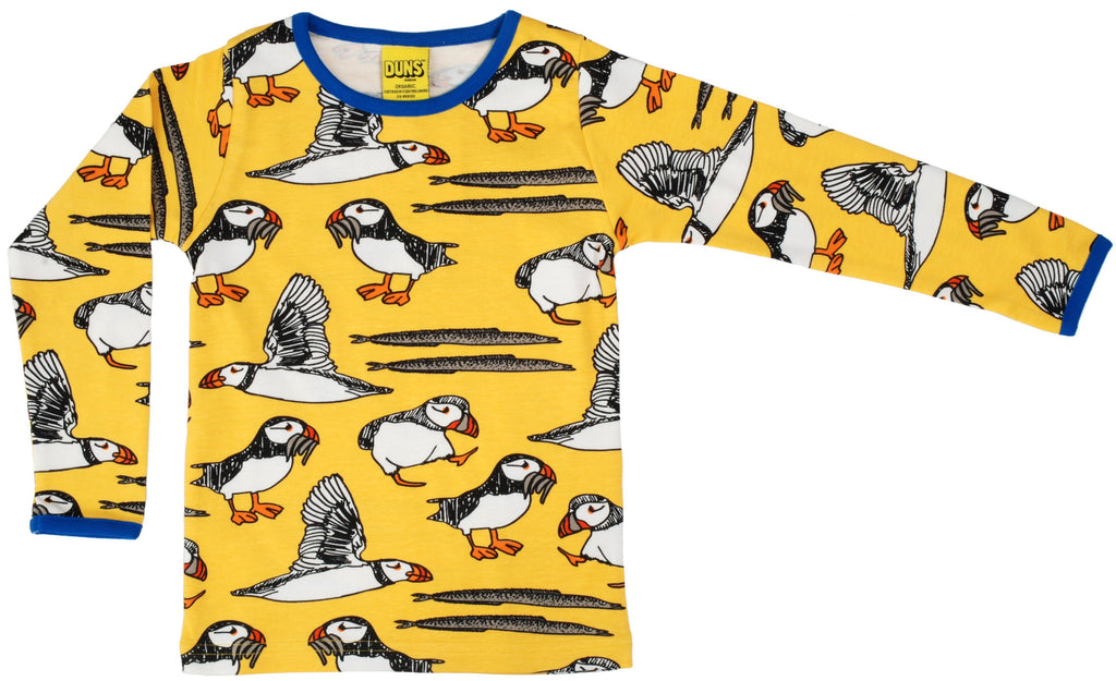 LS T-shirt puffin - yellow Tops Duns Sweden