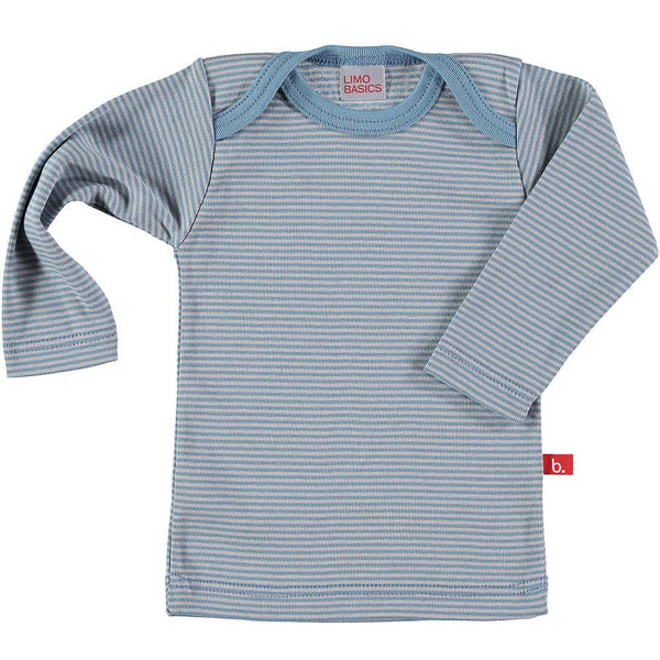 Top LS stripes denim grey Tops LimoBasics