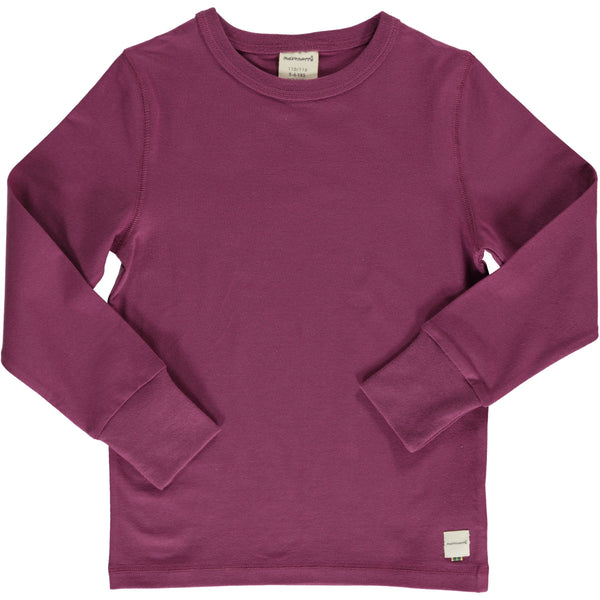 Plum LS top Maxomorra