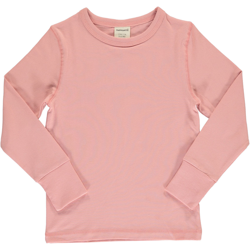 Dusty rose LS top Maxomorra Tops Maxomorra
