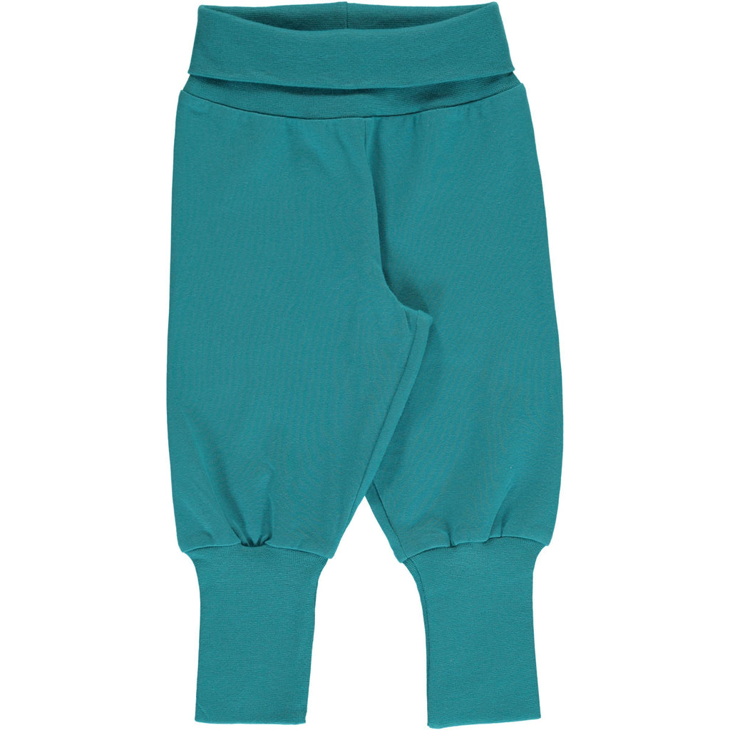 Rib pants arctic blue Maxomorra Bottoms Maxomorra