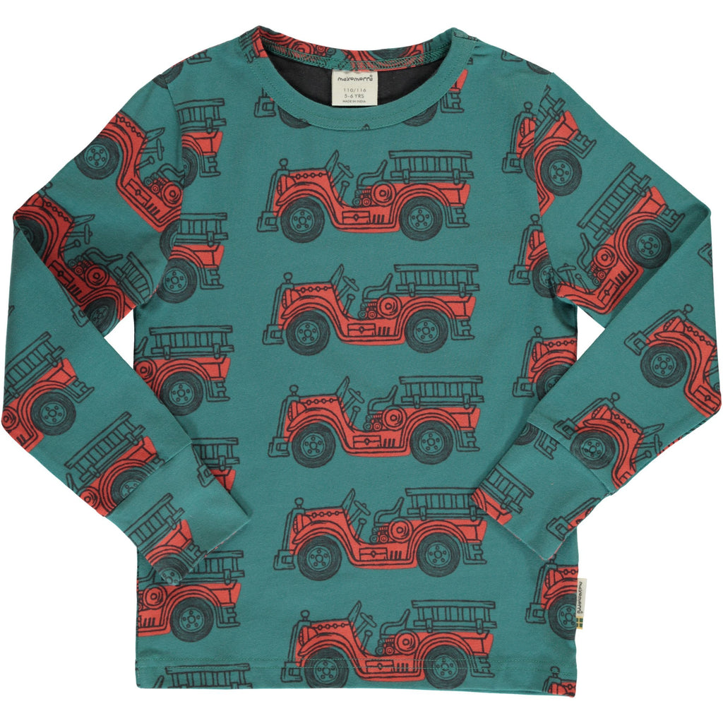 Vintage fire engine LS top Maxomorra Tops Maxomorra