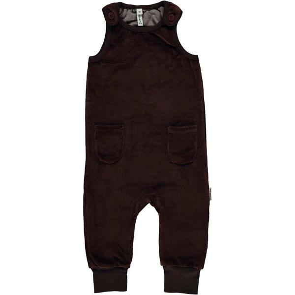 Velour brown dungarees
