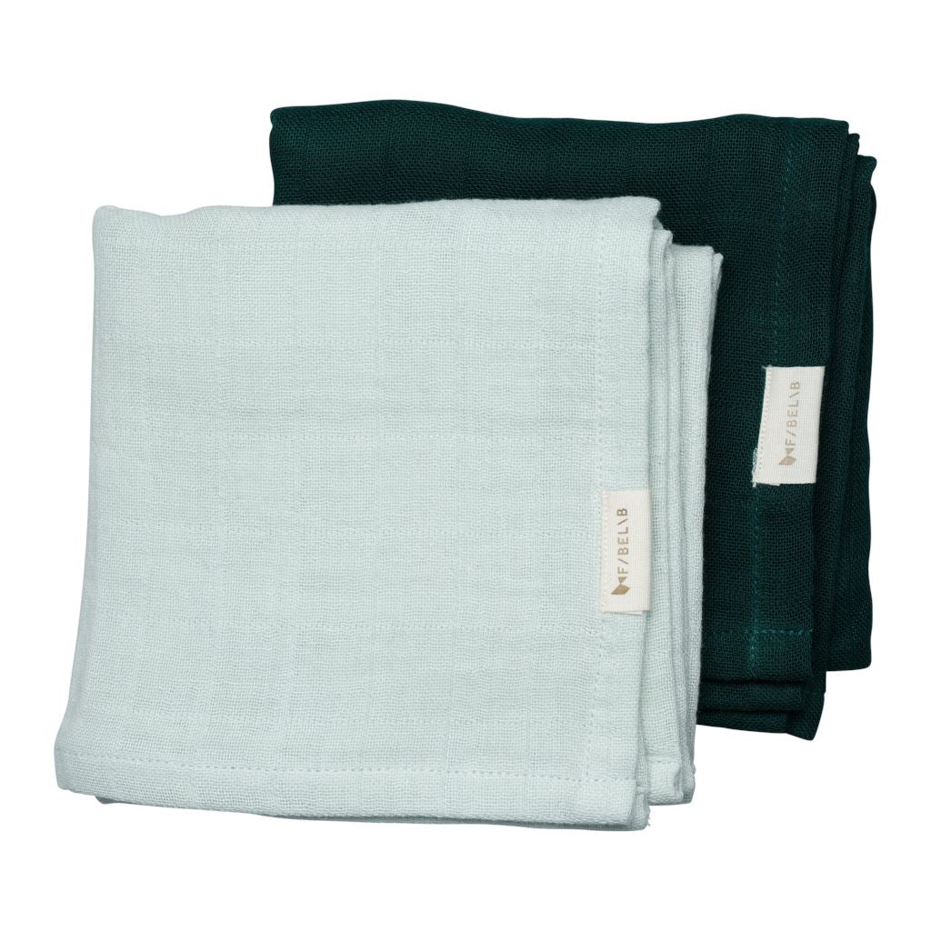 2 Pack - muslin beachgrass/evergreen Fabelab muslin Fabelab