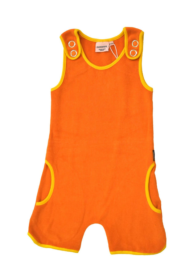 Terry short playsuit orange Moromini Dungarees Moromini