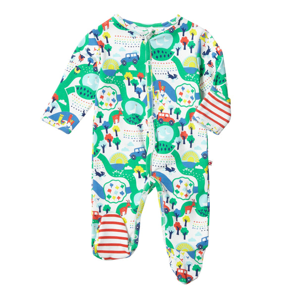 Sleepsuit farm Piccalilly Playsuit Piccalilly
