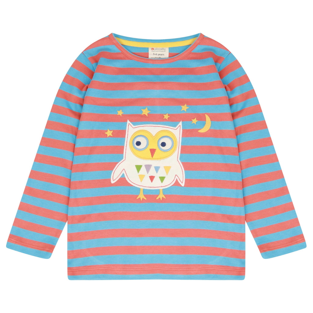 Stripy owl top Piccalilly Tops Piccalilly