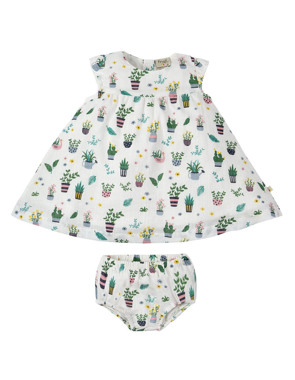 Dolly muslin outfit - greenhouse Frugi playsuit Frugi