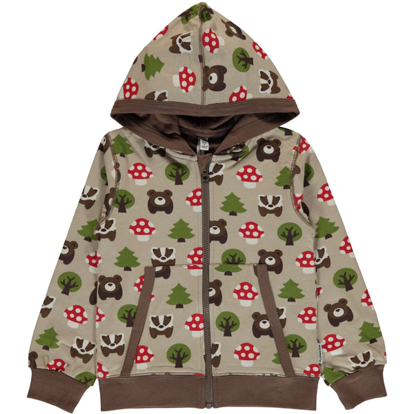 Cardigan hood forest Maxomorra
