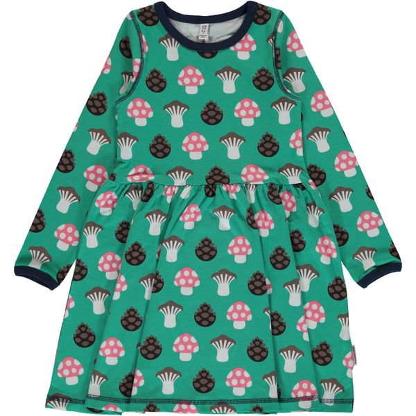 Long sleeve mushroom spin dress Maxomorra