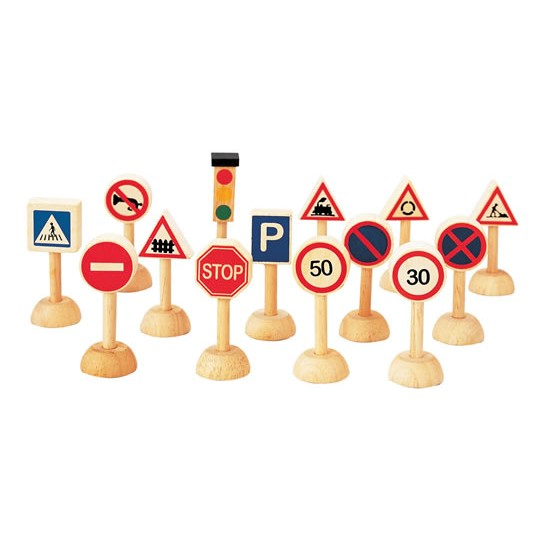 Set of traffic signs & lights PlanToys