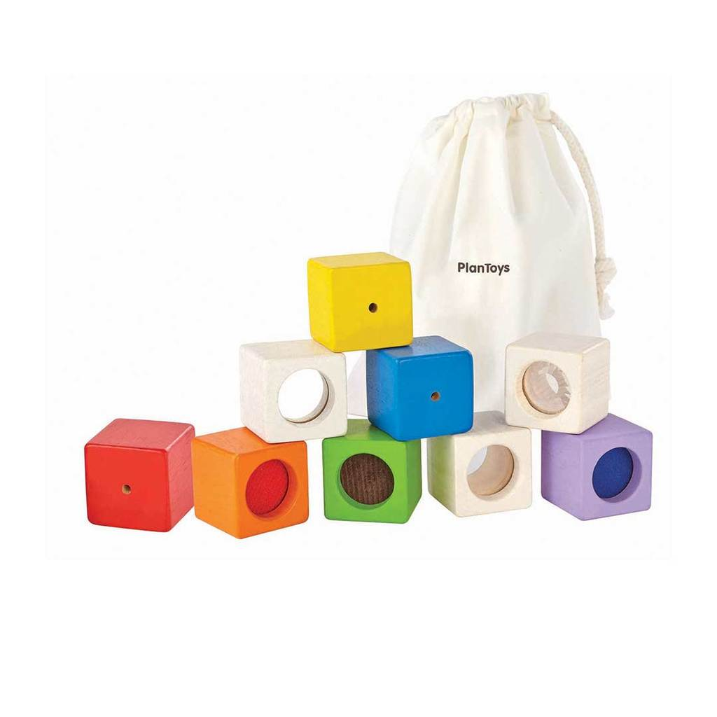 Activity blocks - touch, feel & see PlanToys Toys PlanToys