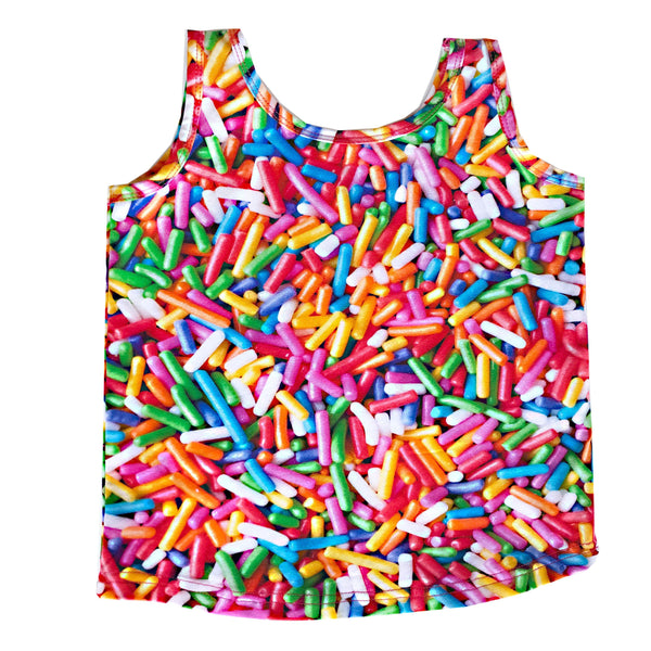 Tank top rainbow sprinkles Romey Loves Lulu Tops Romey Loves Lulu