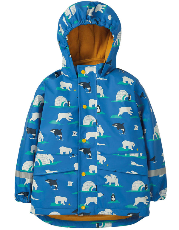 Puddle buster coat - polar play Frugi
