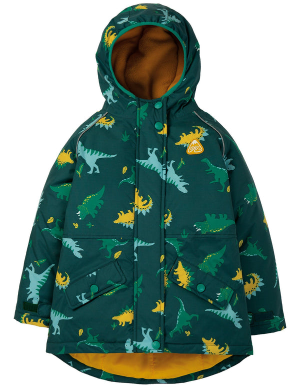 Explorer waterproof coat - dino Frugi