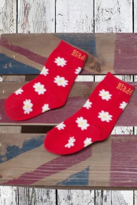 Red daisy socks - 2 pack