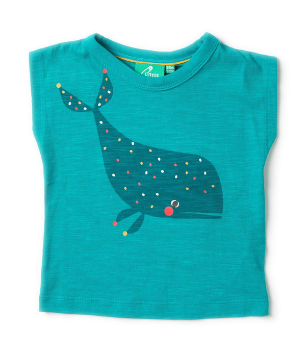 Whale breezy tee Tops Little Green Radicals