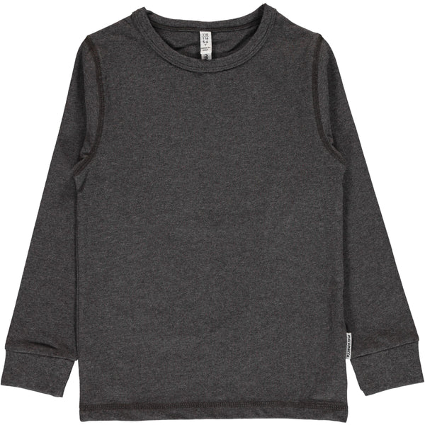 Dark grey melange top Maxomorra