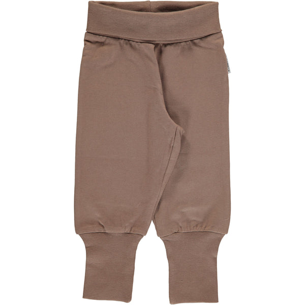 Rib pants hazel brown Maxomorra