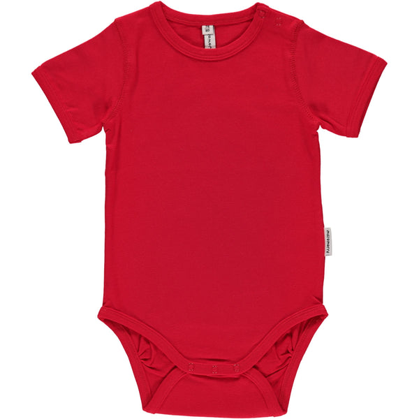 Short sleeve body red Maxomorra Bodies Maxomorra