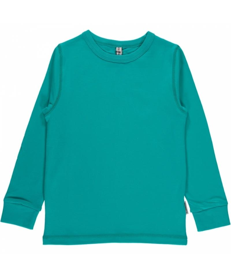 Top LS turquoise Maxomorra Tops Maxomorra