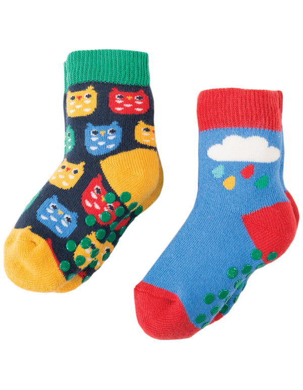 Grippy socks - 2 pack - cloud & owl