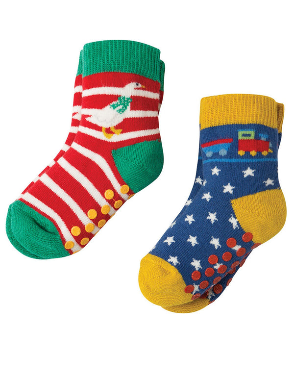 Grippy socks - 2 pack - goose & train Frugi