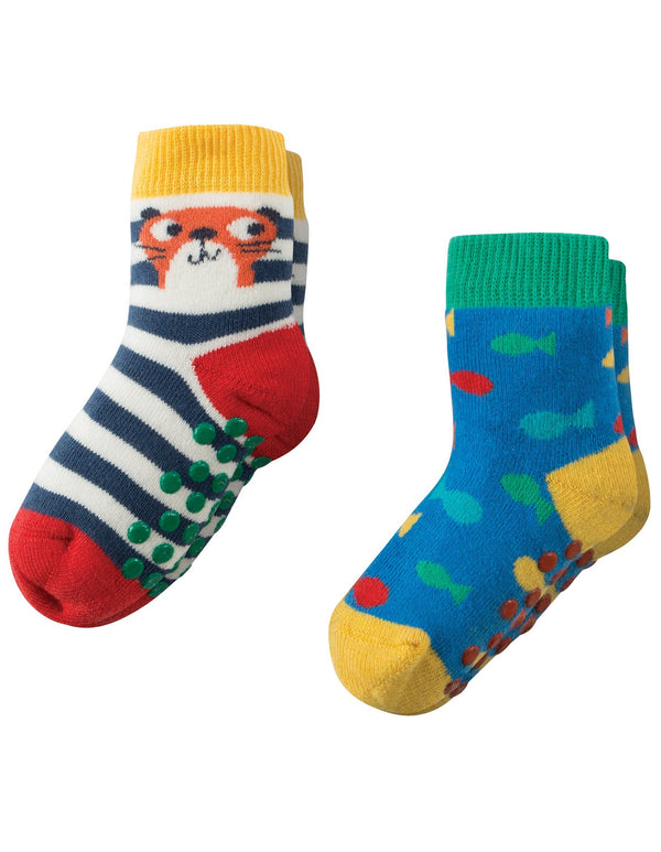 Grippy socks - 2 pack - otter & fishes