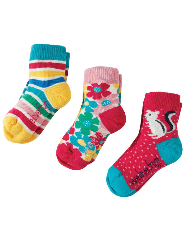 Little socks - 3 pack - chipmunk